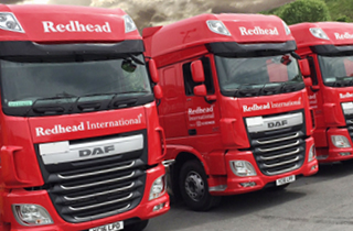 Watch redhead international freight van